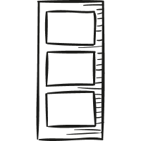 Big Book Shelf vector