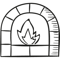 Chimney With Fire vector