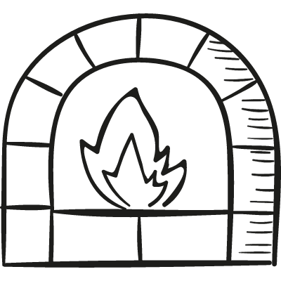 Chimney With Fire vector logo