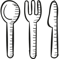 Kitchen Cutlery vector