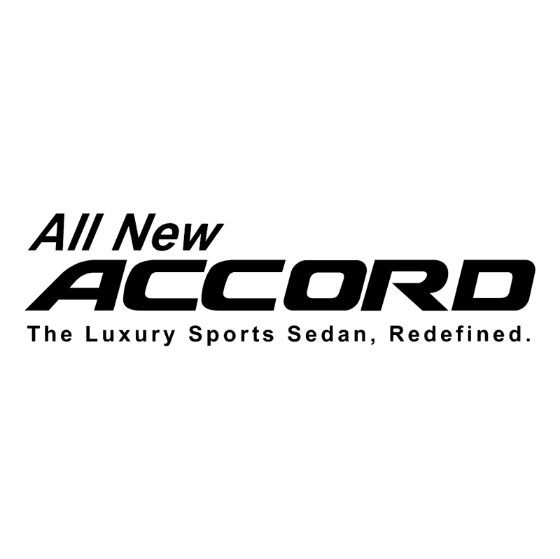 All New Accord vector
