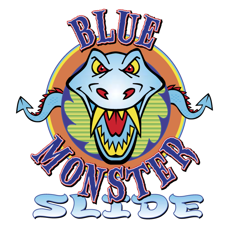 Blue Monster Slide vector