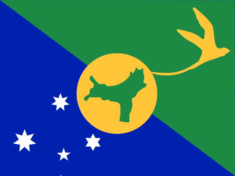 Flag of Christmas Island vector