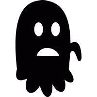 Worried Ghost vector