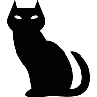 Black evil cat vector