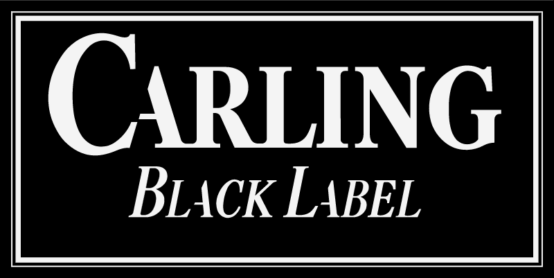 Carling Black label vector