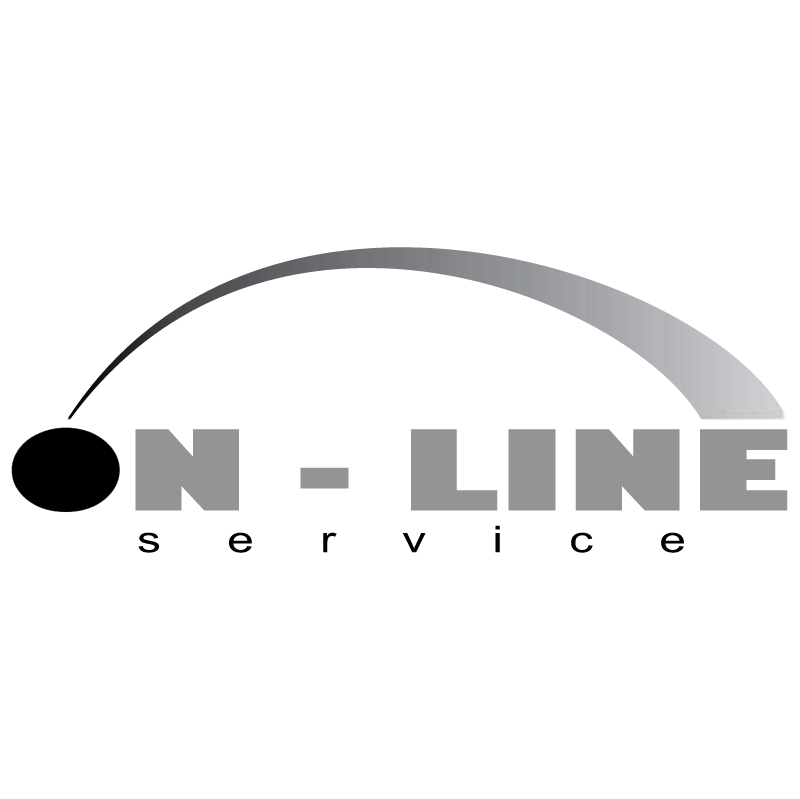 On Line Service vector