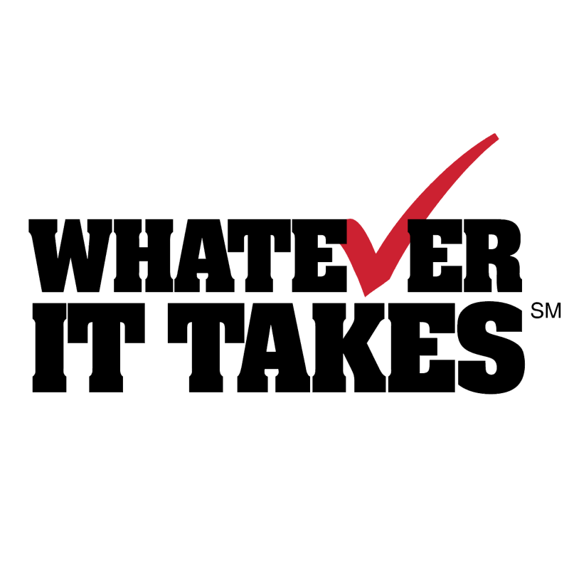 Whatever it takes vector logo