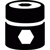 Barrel with pentagons vector