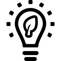 Ecological lightbulb symbol