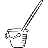 Mop and Bucket vector