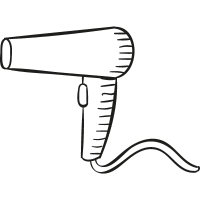 Hairdryer with cable