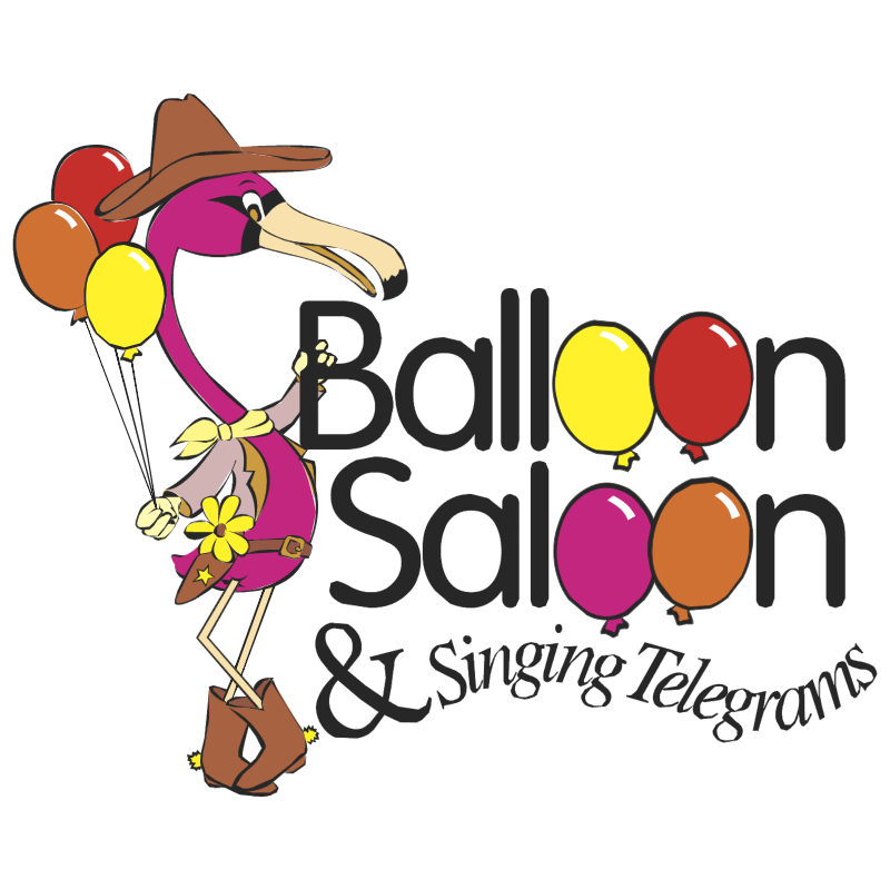 Balloon Saloon & Singing Telegrams vector logo