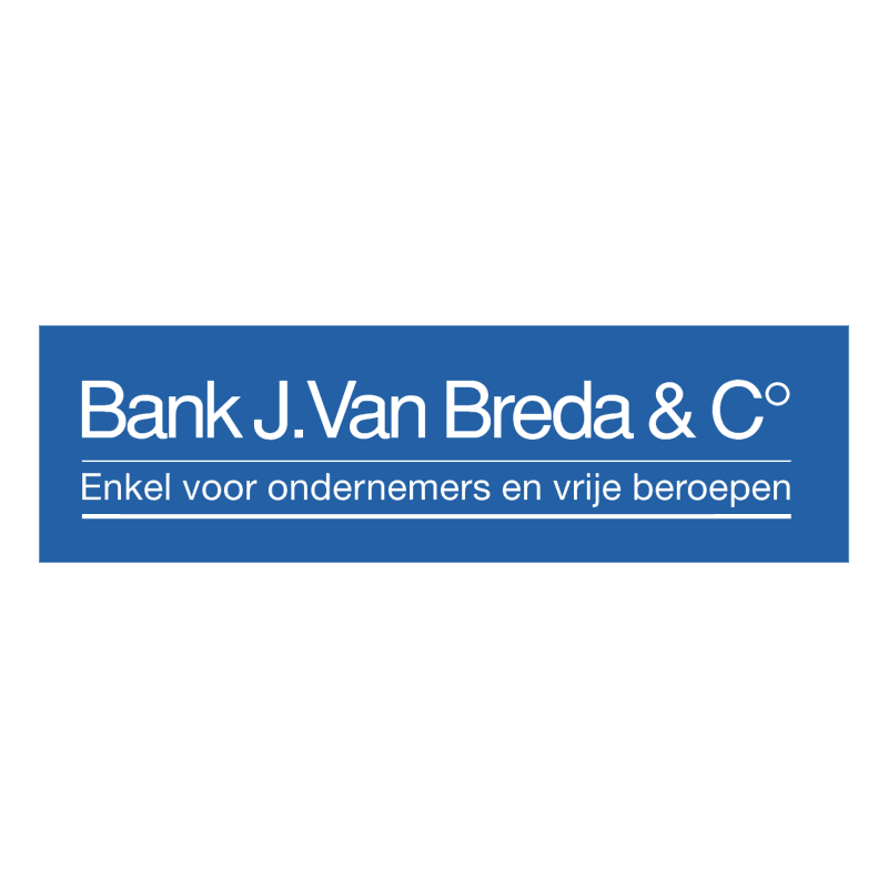 Bank J Van Breda & C vector