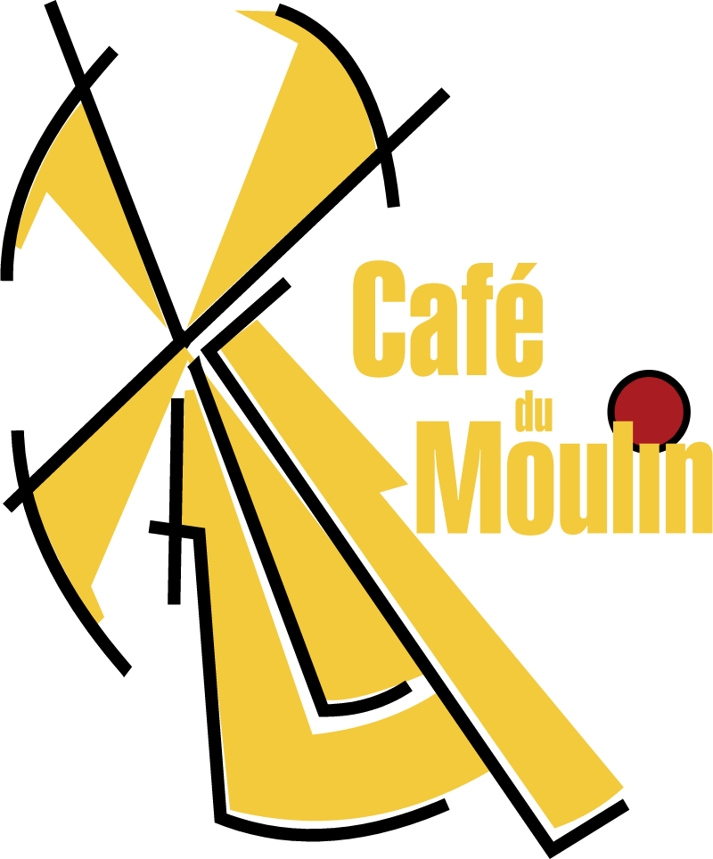 Cafe du Moulin logo vector
