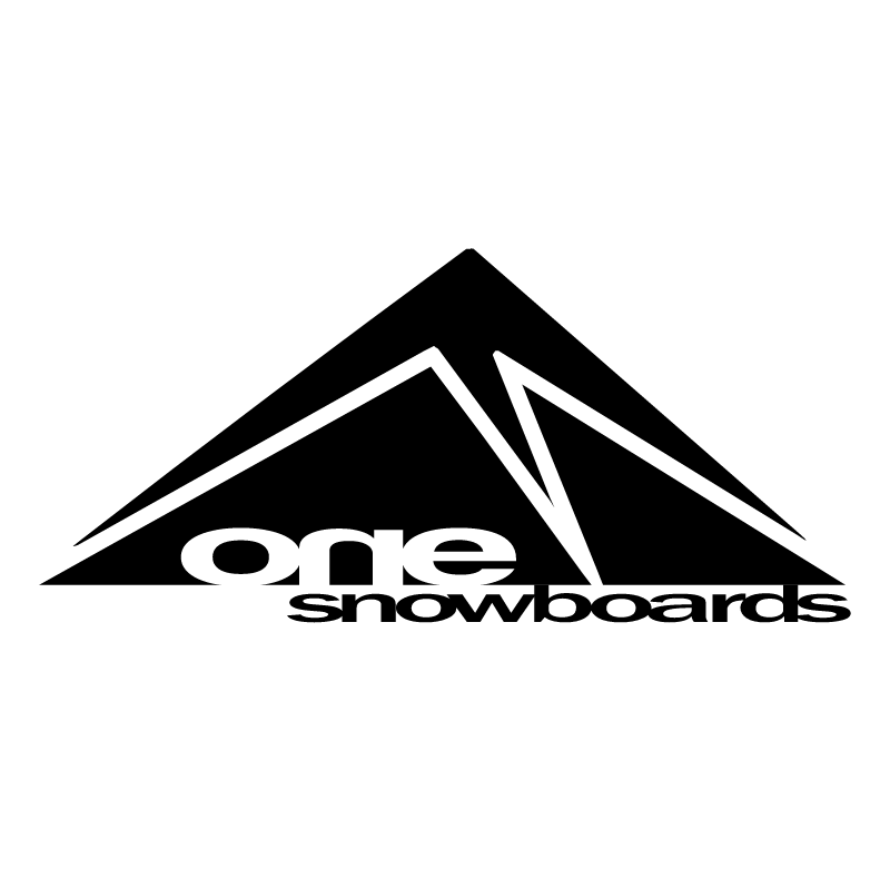 one snowboards vector