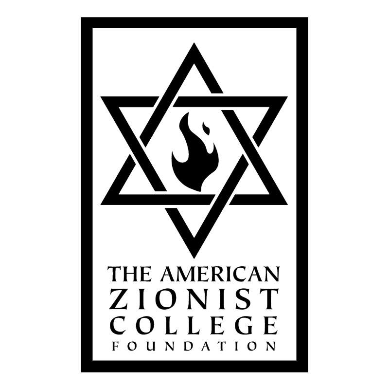 The American Zionist College Foundation vector