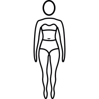 Woman standing with swim suit vector