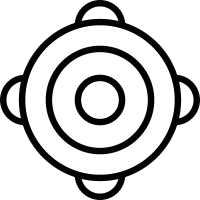 Ornamented bullseye vector