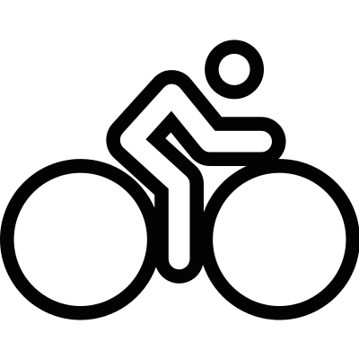 Man riding a bike vector logo