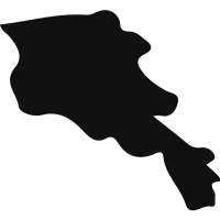 Armenia black country map shape
