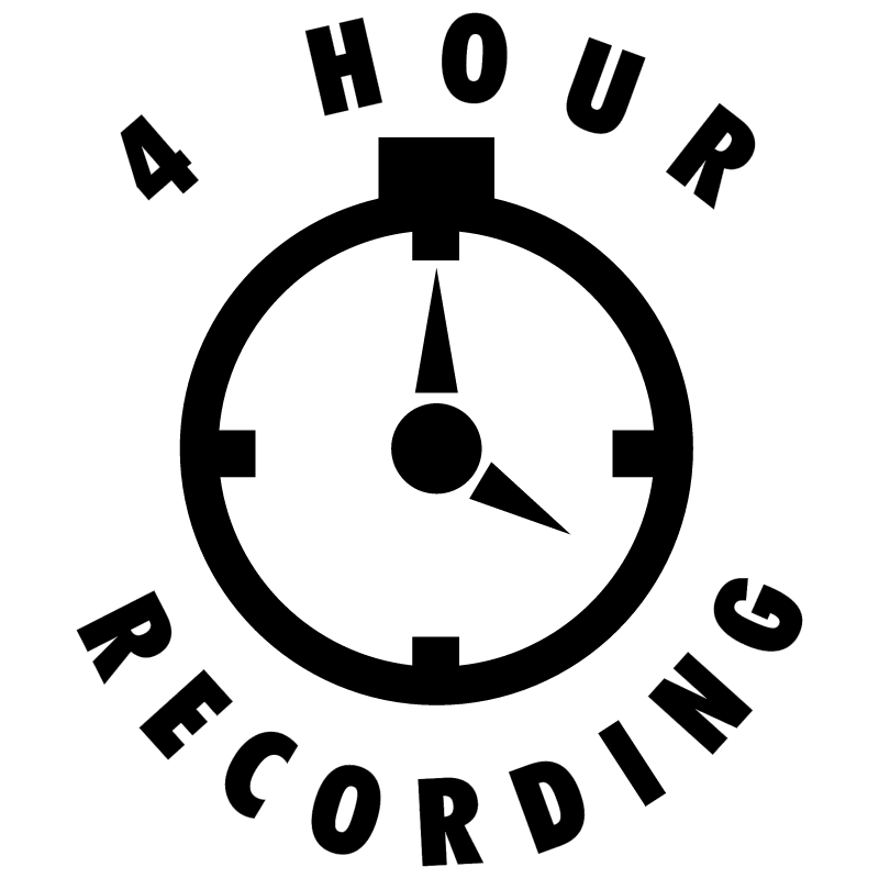 4 Hour Recording vector