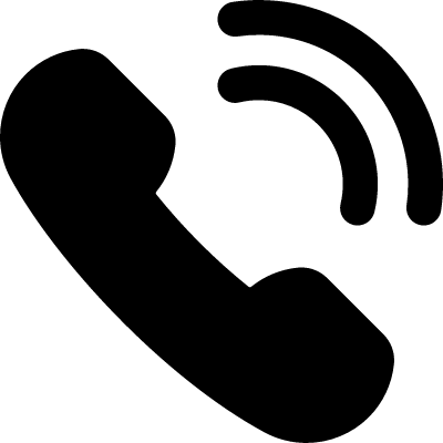 Phone Receiver with Signal vector logo