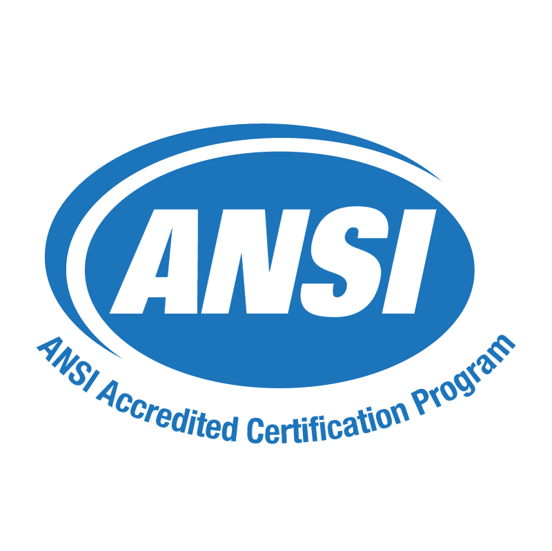 ANSI Accredited Certification Program 61141 vector