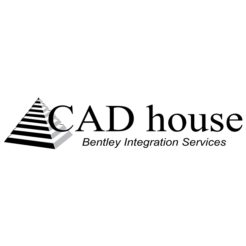 CAD house vector