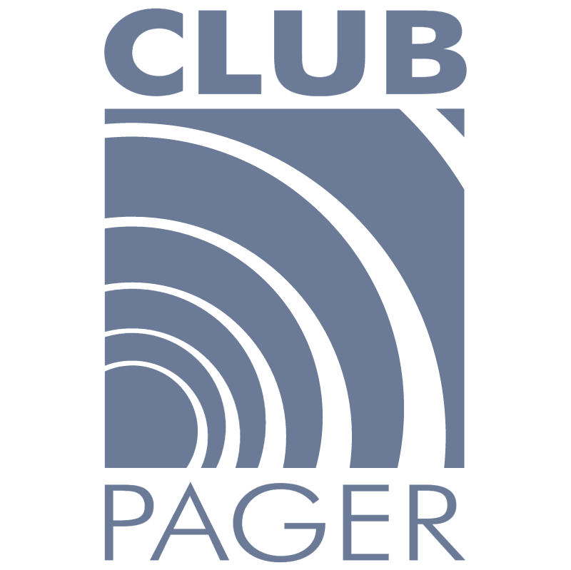 Club Pager vector logo