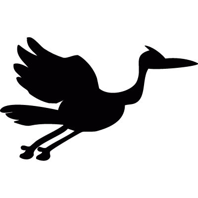 Flying stork logo