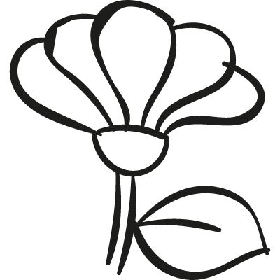 Garden Flower vector logo