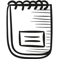 Ringed notepad vector