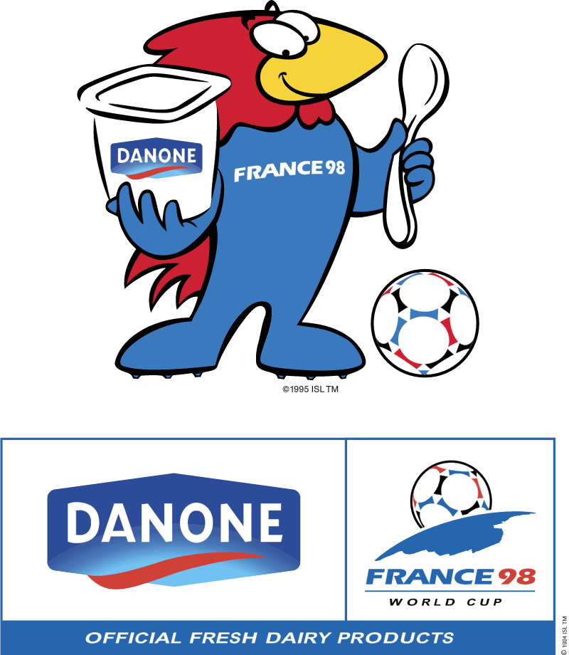 Danone sponsor of Worldcup 98 vector