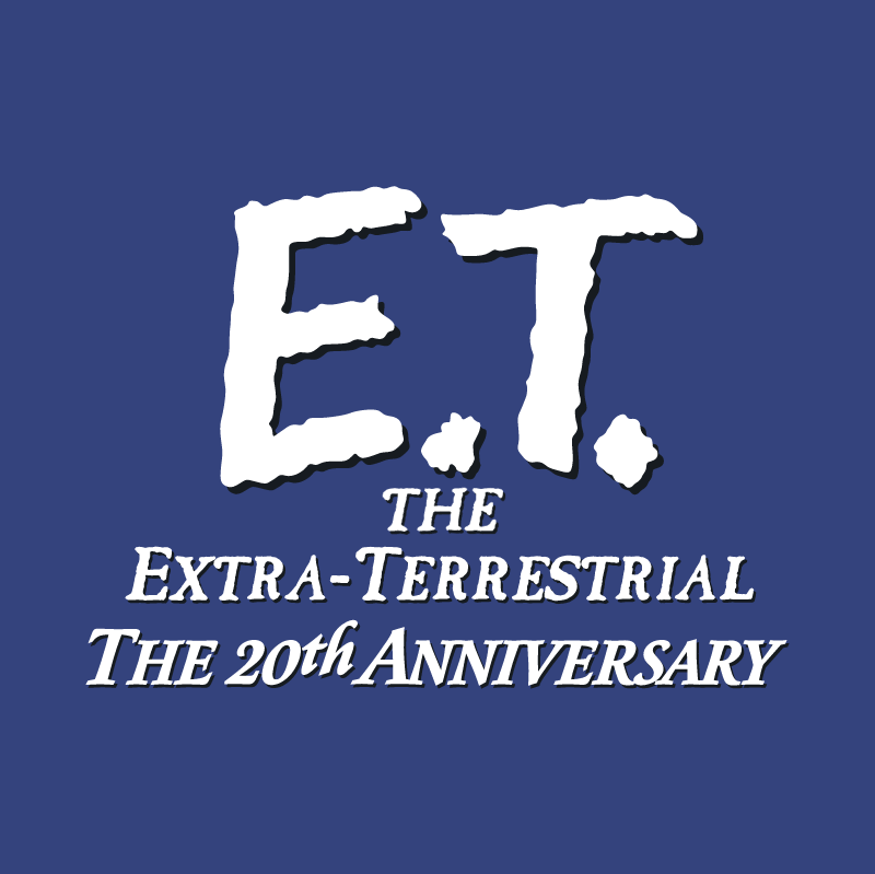 E T The Extra Terrestrial vector logo