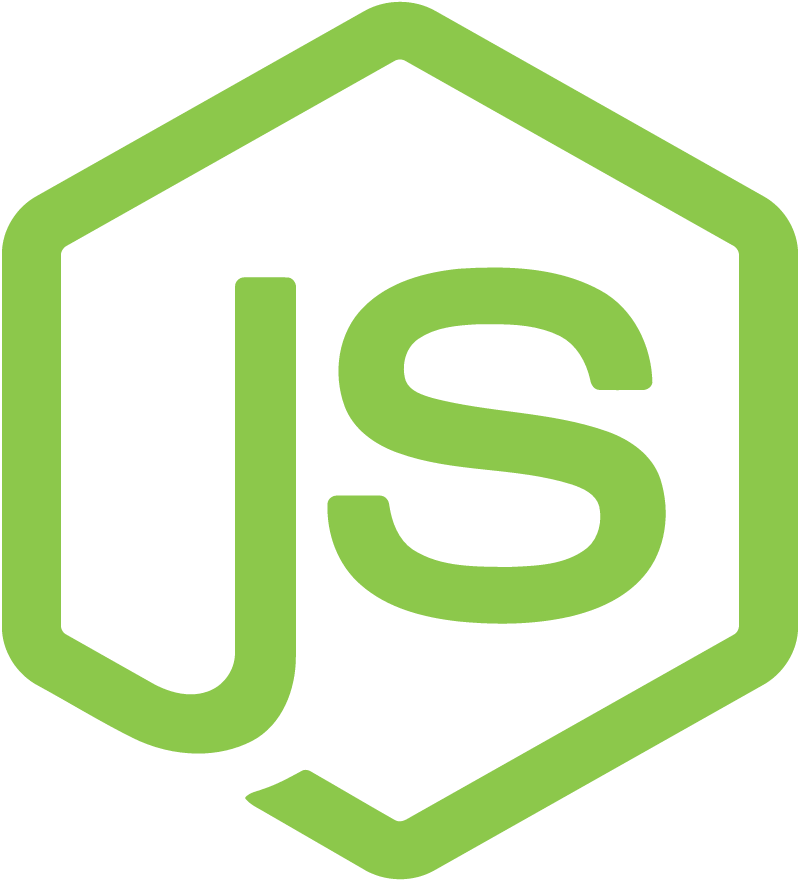 NodeJS icon vector