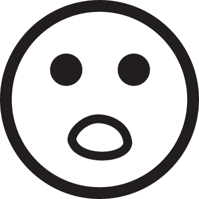 Surprised face vector logo