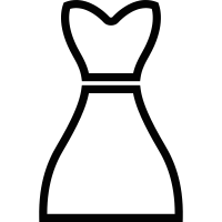 Sleeveless dress vector