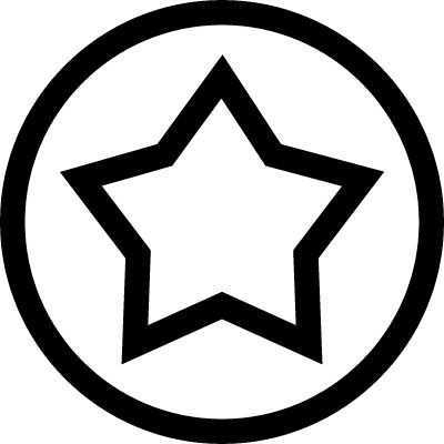 Star outline in a circle line vector logo