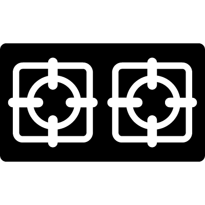 Two burners from top view vector logo
