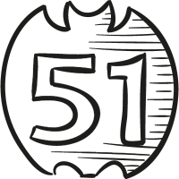 51 On Draw Logo