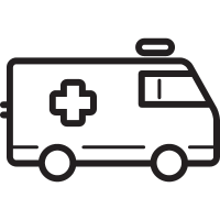 Ambulance Facing Right vector