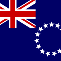 Flag of Cook Islands vector