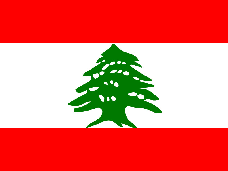 Flag of Lebanon vector