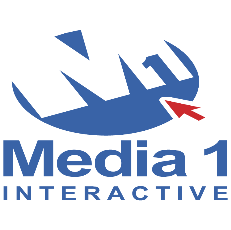 Media 1 Interactive vector logo