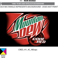 MOUNTAIN DEW CODE RED vector