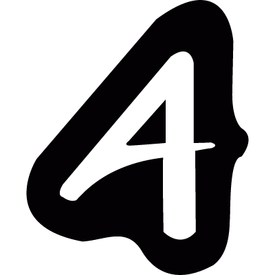 Logotype with letter A vector logo