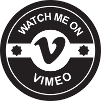Watch me on vimeo vector