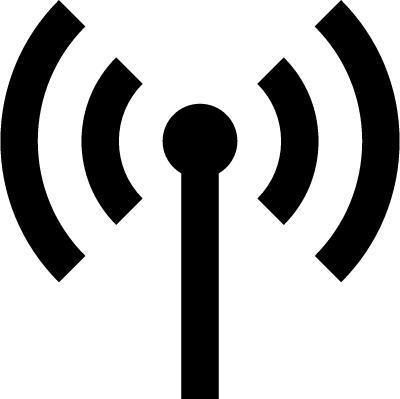 Antenna with signal transmission vector logo