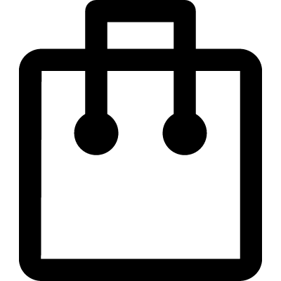 Square symbol with two dots and a line vector logo